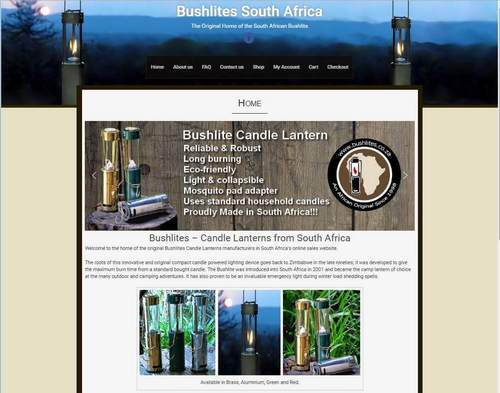 Worpress website design randburg Bushlites